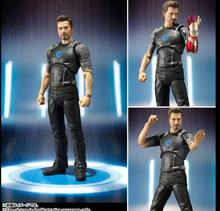 SHF Toy Iron Man Action Figure Tony Stark Armored PVC Figure Collectible Model Toy Gift 16cm Birthday Gifts sci fi revoltech series no 036 iron man mark iii mk3 no 035 mark 2 mark ii pvc action figure collectible model toy 15cm kt1789