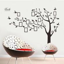 new modern fashion DIY Photo Frame Tree Bird Removable Wall Sticker Decals Home Living Room Decor Features tree bird photo frame