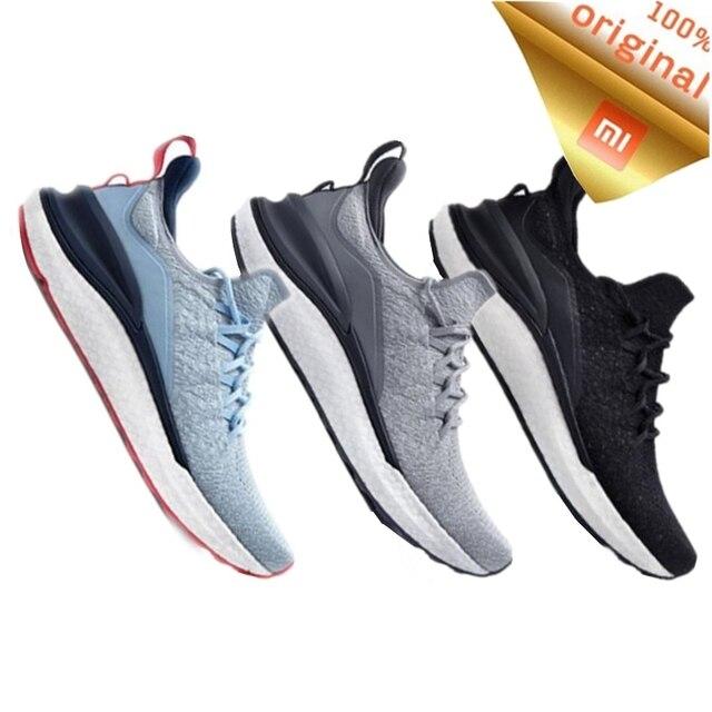 حذاء شاومي مي جيا الرياضي الجديد لعام 2020 حذاء رياضة 4 للجري والمشي في الهواء الطلق خفيف الوزن قابل للتهوية 4D منسوج علوي قابل للغسل