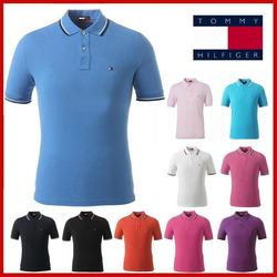 Мужская рубашка поло, брендовая мужская Повседневная рубашка поло с вышивкой оленя, Мужская рубашка поло с коротким рукавом, высокое количе...