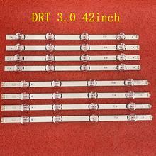8 Pçs/set Tira Retroiluminação LED para LG 42LB5610 42LB5800 42LB585V 42LB650V 42LB5850 42LB585B 42LB585U 42LB585V 42LF6500 42LB6200