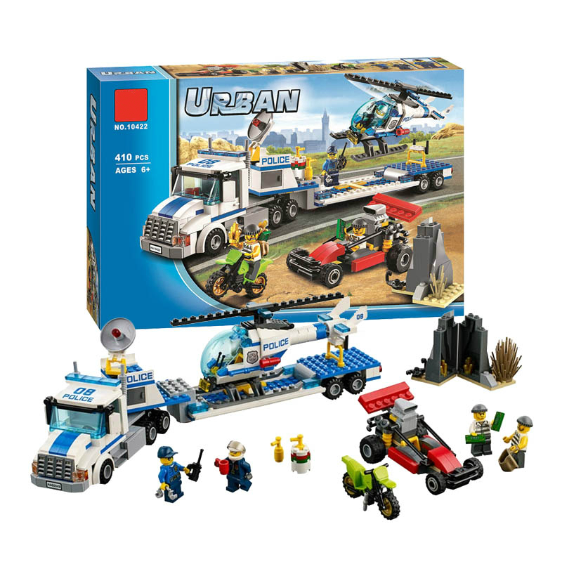 Bela 10422 Urban City Police Force Helicopter Truck Building Block Bricks Toys Compatible With City 60049