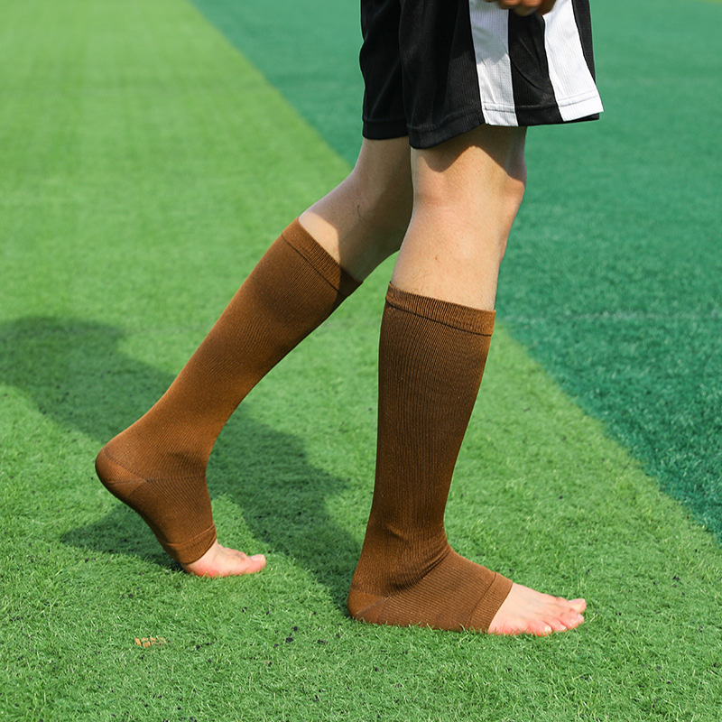 Women Men Socks Open Toe Knee High Socks Leg Support Warmer Relief Pain Therapeutic Anti-Fatigue Sport Compression Stockings