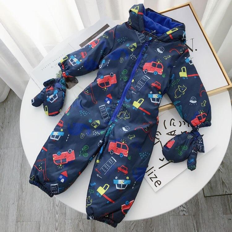 kids/children/boys outdoor windproof jumpsuit, rompers, cartoon jumpsuit, autumn/winter overalls, size 12Y to 5Y-in Overalls from Mother & Kids