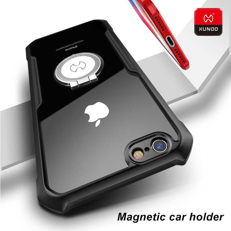 Magnético caso titular do carro para iphone 7 8 plus xr x xs 11 pro max telefone de luxo logotipo à prova choque macio silicone protetor casos capa