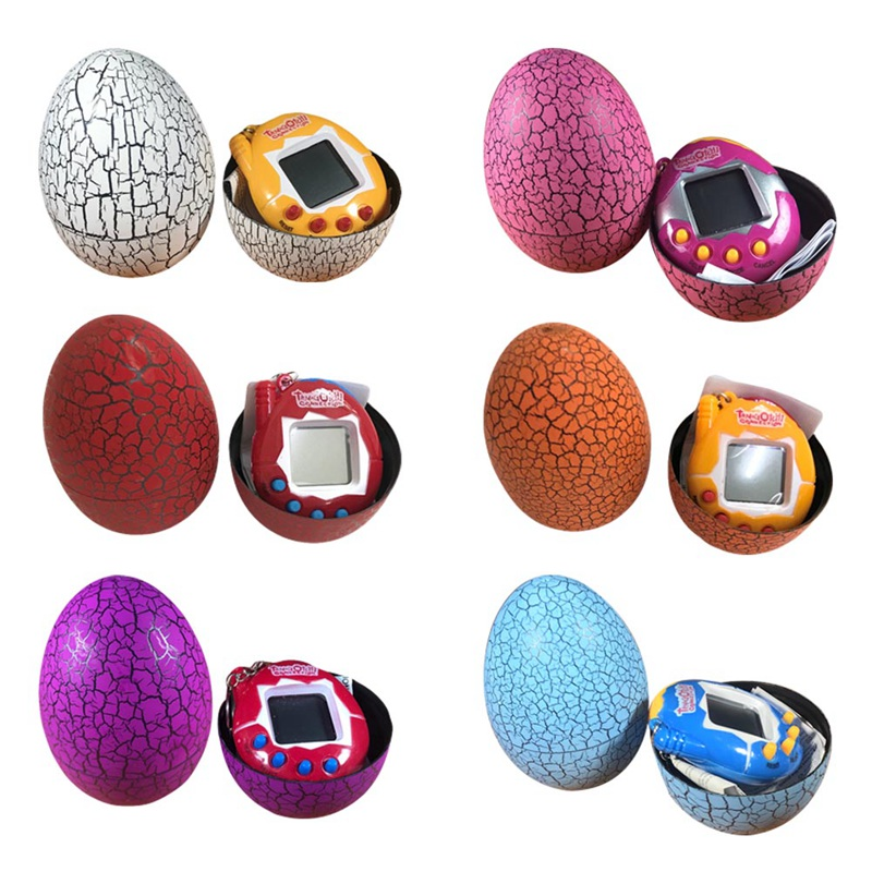 Multi-colors Dinosaur Egg Tumbler Virtual Cyber Digital Pets Electronic Digital E-pet Retro Handheld Game Machine Toys