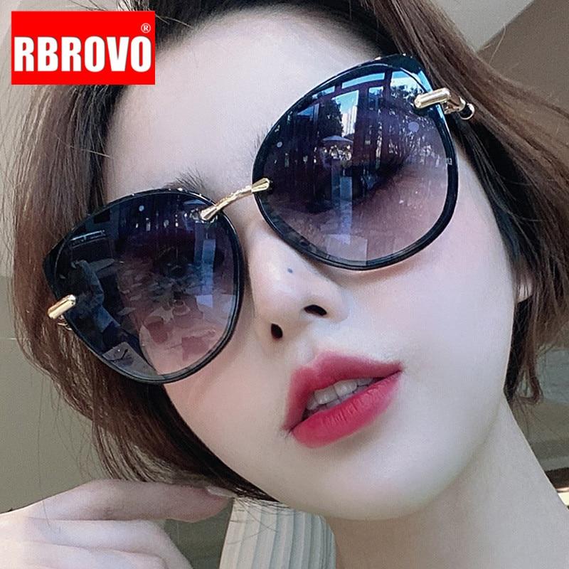 RBROVO Cat Eye Retro Sunglasses Women Classic Vintage Sunglasses Women Brand Designer Glasses For Women Luxury Oculos De Sol