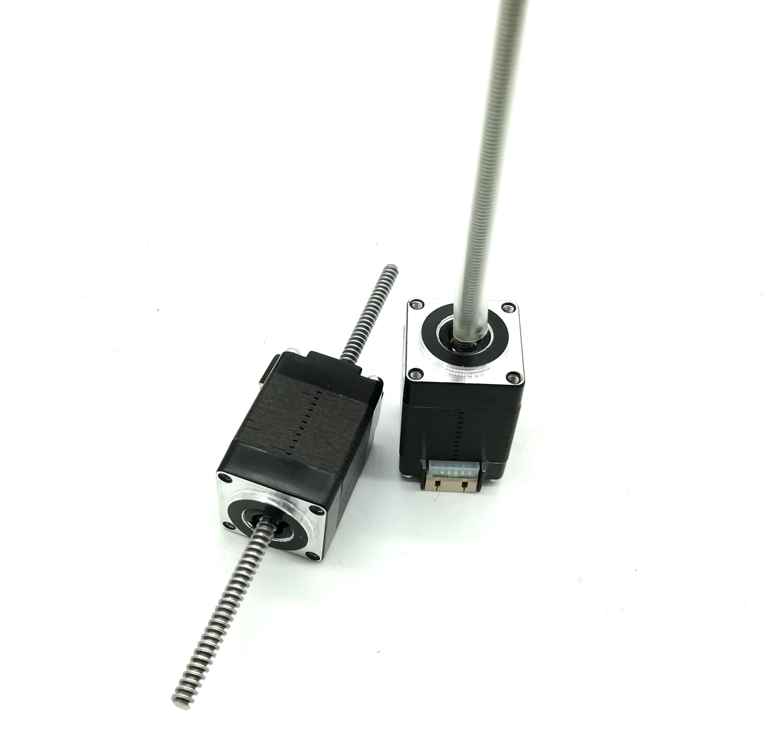Motor deslizante linear não cativo longo de nema8 de 100mm com parafuso de chumbo tr3.5 * 0.61mm