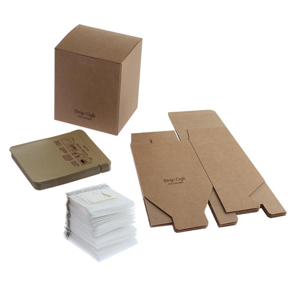 105pcs Disposable Hanging Ear Drip Coffee Tea Filter Bags Single Serve Kraft Aluminum Foil Bags Coffee Filters    - AliExpress