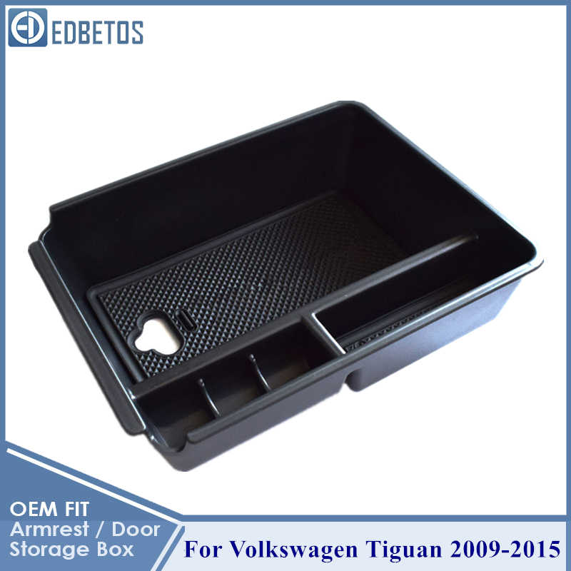 Untuk Tiguan Sandaran Tangan Kotak Penyimpanan untuk Volkswagen V W Tiguan 2009 - 2019 Tiguan Konsol Organizer Kotak Sarung Tangan untuk Tiguan aksesoris