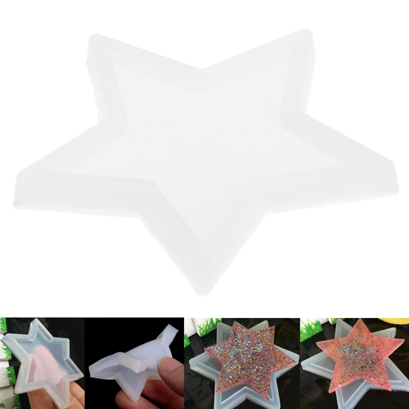 Five-pointed Star DIY Silicone Pendant Mold Making Jewelry Pendant Resin Casting D0UB