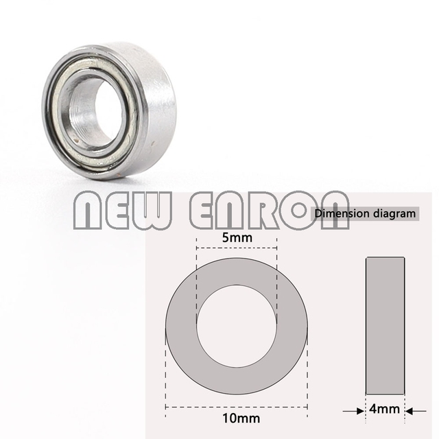 NEW ENRON 8Pc Oil Bearing 10*5*4mm Sealed Miniature Ball Bearing B021 FOR RC Car 1/10 HPI WR8 Flux Bullet ST MT Baja RS4 Savage