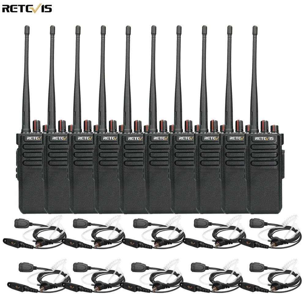 IP67 Waterproof Walkie Talkie Radio Staion 10pcs Retevis RT29 VHF UHF Radio VOX Scan Two Way Radio HF Transceiver+Earphone