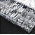 200 шт./лот металлическая сталь в ассортименте с коробкой для хранения аксессуаров удлинитель и компрессионная катушка портативный инструме...