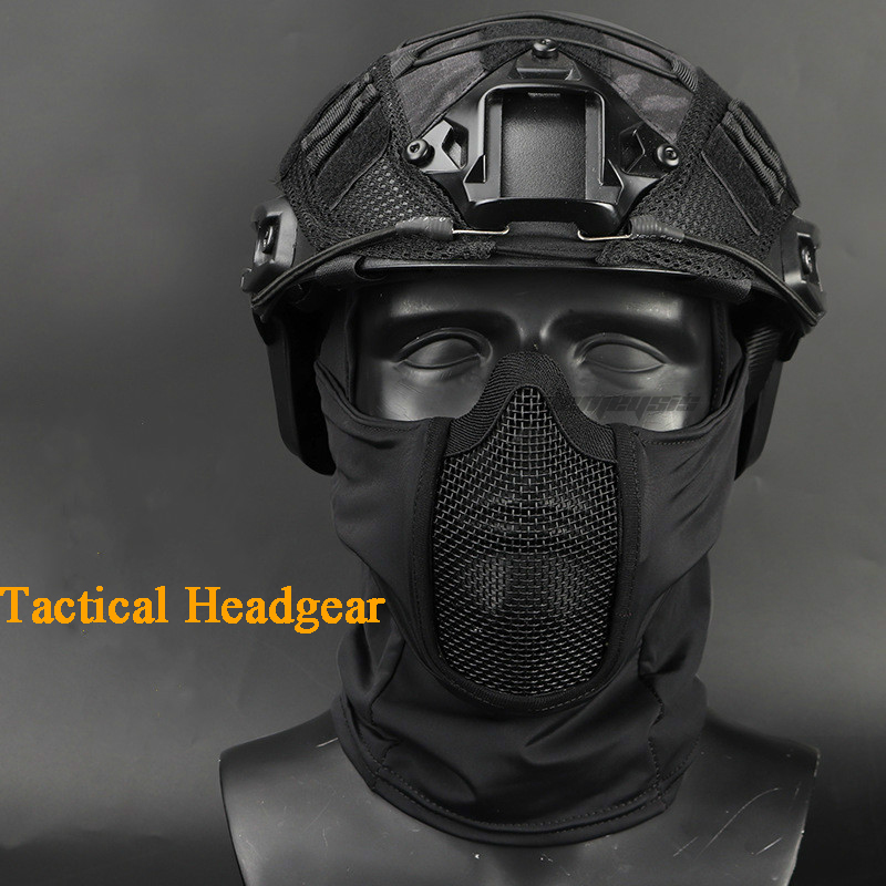 Army Military Paintball Airsoft Protection Mask Shooting Hunting Motorcycle Sport Face Mask Headgear Tactical Headgear Masks