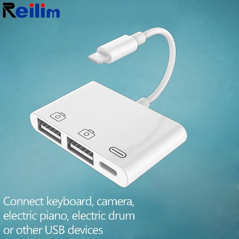 OTG USB To Lightning Adapter Converter MIDI Piano Keyboard Camera Adapter For IPhone 11 Ipad XS Max XR X 8 7 6 6s 5 5s SE IOS 13