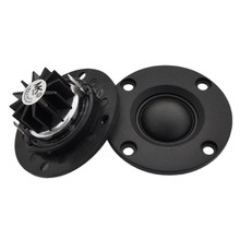 Tweeter Speaker 6 Ohm 30W HI FI Lembut Dome Sutra Film Treble Loudspeaker Neodymium Bergigi Wastafel Panas 2Pcs(China)