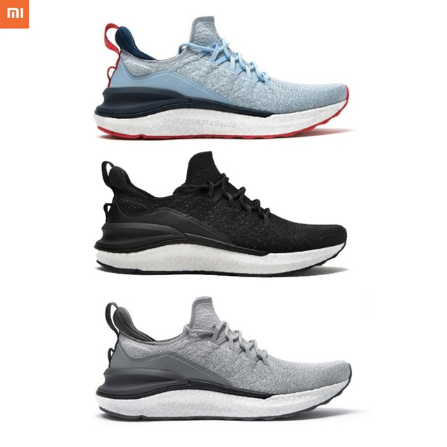 Original Xiaomi Mi Mijia Sports Shoes Sneaker 4 Outdoor Men Running Walking Lightweight Comfortable Breathable 4D Fly Wove Shoes