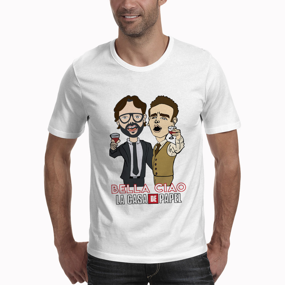 Camiseta De Casa De Papel para hombre diseño divertido La Casa De Papel camiseta De dinero camiseta de manga corta