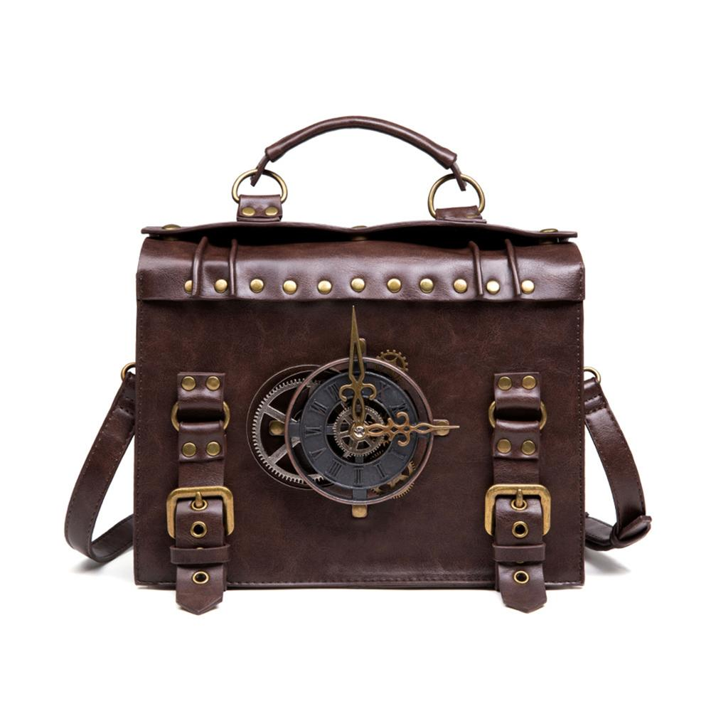 Steampunk Gear Retro Gothic Bags For Women Handbags High Quality Leather Cross Body Bags Lolita Style Shoulder Bags High Quality