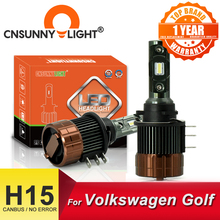 CNSUNNYLIGHT H15 Headlight Bulb CANBUS LED Lamps 6000K White Day Time Running Light DRLs For Volkswagen Golf 6/7/Sportsvan