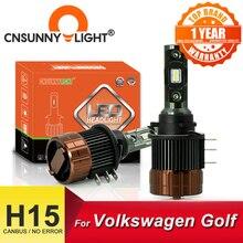 CNSUNNYLIGHT H15 مصباح أضاءه أمامي مصابيح LED CANBUS 6000K يوم أبيض تشغيل ضوء DRLs لفولكس واجن جولف 6/7/sportvan