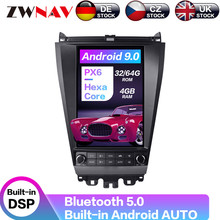 Carplay DSP Android 9.0 PX6 Vertical Tesla Radio Screen Car Multimedia Player Stereo GPS Navigation For Honda accord 2003-2007 carplay dsp android 9 0 px6 vertical tesla radio car multimedia player stereo gps navigation for land cruiser lc100 2002 2007