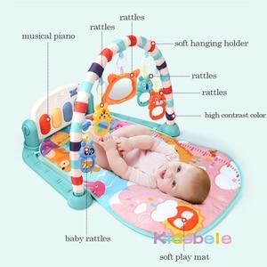 Image 3 - תינוק שטיח תינוק חדר כושר פעילות Playmat מוסיקלי פסנתר רעשנים צעצועי 0 12 חודשים פעוטות זחילה למידה מוקדמת פאזל מחצלת צעצועים