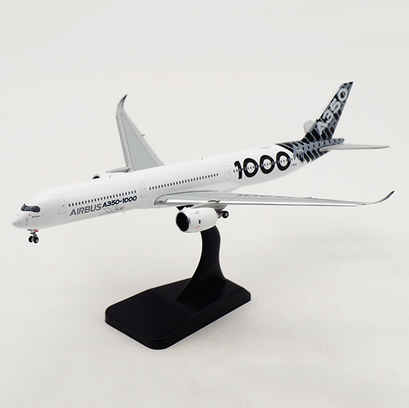 1: 400 Scale 18.6CM Simulation 350 A350-1000 Airbus Passenger Airplane Landing Gear Alloy Model Toy Collection Display Gift