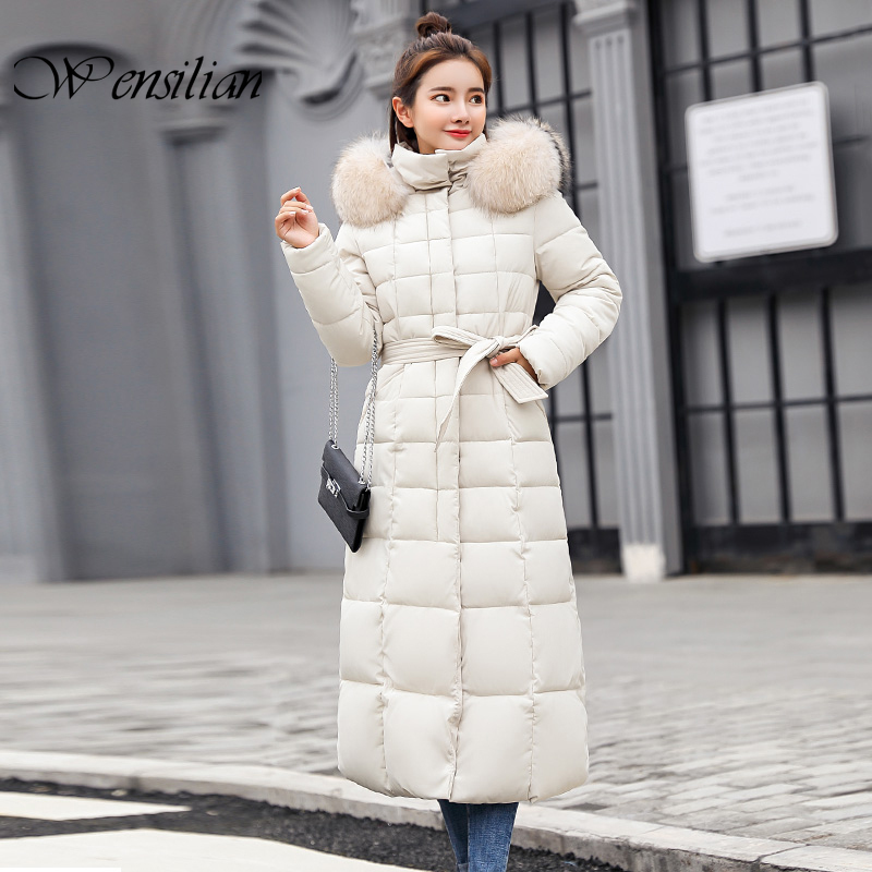 Slim   Parkas   Women Winter Coats Padded Hooded Jackets Ladies Long   Parkas   Fashion Warm Coat Female Abrigos Mujer Invierno 2019