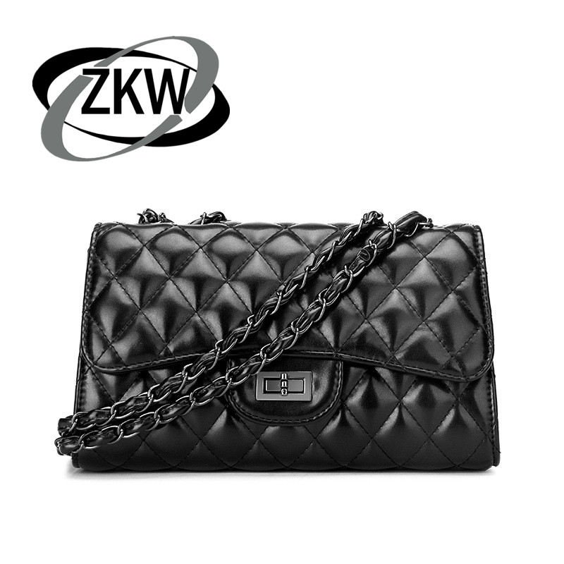 ZKW Fashion Handbag Shoulder-Bags American Rhombic-Chain-Bag Small European Fragrance