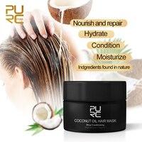 PURC 50ml Coconut Oil Hair Mask Repairs Damage Restore Soft  Keratin Hair Scalp Treatment Non-Steaming Nutrient Hair Care TSLM1 3