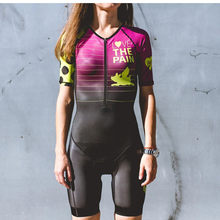 love the pain team racing set speed cycling body skinsuit kit ciclismo sports jumpsuit fast Bicycle triathlon cycling clothing