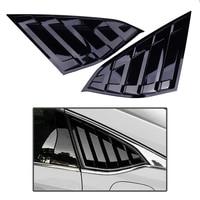 Beler 1 пара глянцевая черная задняя сторона Вентиляционное окно четверть жалюзи крышка подходит для Honda Accord 2018