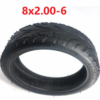 8 Inch 8x2.00-5 Vacuum Thickened Tire 8x2.00-6 Tubeless Tyre for Mini Electric Scooter Pocket Bike MINI Bike