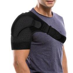 Ombro cinta ajustável neoprene ombro suporte respirável ombro compressão manga braço esquerdo ou direito ombro manguito
