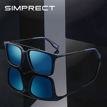 SIMPRECT Polarized Sunglasses Men 2020 Square Sunglasses Vintage Retro Sun