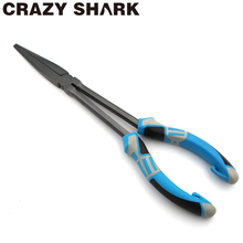 Crazy Shark Fishing Pliers Hook Remover Long Nose Fish Plier 11 Inches High Carbon Steel Goods For Fishing Tools