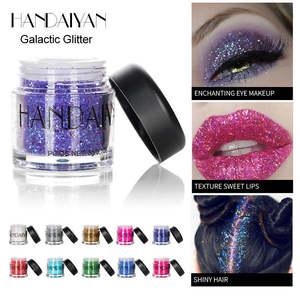 New Eye Glitter High Gloss Face Body Makeup Relaxation Pigment Highlighter Glitter Powder 12 Color Korean Cosmetic TSLM1