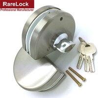 Cerradura de puerta de vidrio de acero inoxidable Rarelock con 3 Llaves para accesorios de baño de oficina DIY sin perforación MMS104 aa