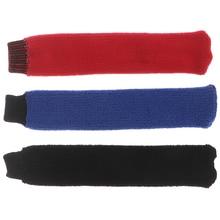 1pc Cotton and Elastic Nonslip Towel Badminton Racket Over Grip Cover Black