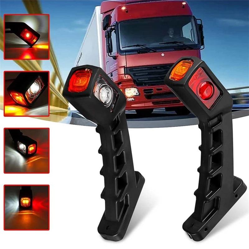 1 Pair Side Marker Trailer Stop Signal Trailer Truck 24v/12v Trailer Truck LED Stop Turn Signal Indicator Caravan Outline Marker