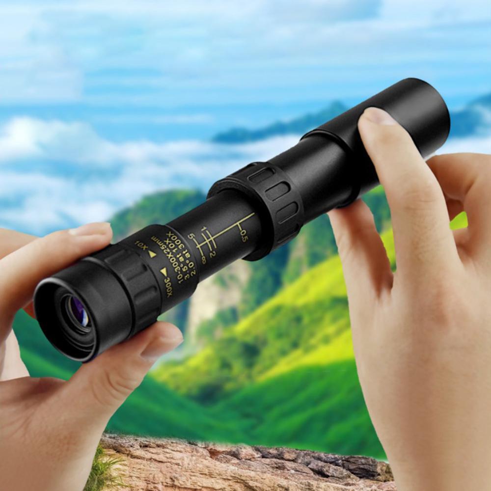 10-300X Монокуляр Телескоп Охота 3000M Бинокль Низкий Свет Ночь Зрение Окуляр Монокуляр для Охота Кемпинг Путешествие