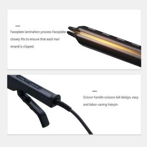Image 2 - Ceramic Tourmaline Ionic Flat Iron Hair Straightener Professional Glider Temperature Adjustment Hair Flat Iron EU/UK/US Plug