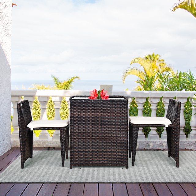 3PCS Outdoor Patio Rattan Furniture Set  3