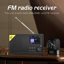 Bluetooth 5.0 Portable Full Band Radio Aircraft Band Receiver  FM/DAB/DAB+ Tuner Lets Multifunctional Music Player Lightweight