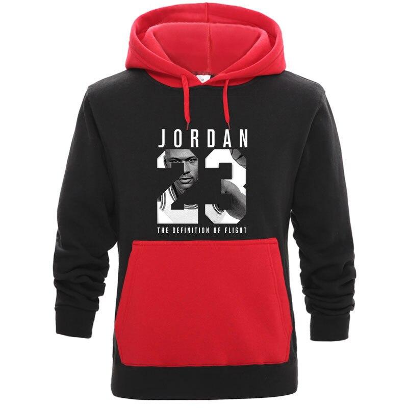 2019Brand Male Contrast Color Long Sleeve JORDAN 23 Hooded Sweatshirt Mens Hoodie Tracksuit Sweat Coat Casual Sportswear Hoodies