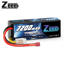 Zeee 11.1V 7200mAh 80C 3S Lipo Battery with Deans Plug Hardcase Battery for RC Car Truck Boat RC Truggy FPV Airplane Buggy