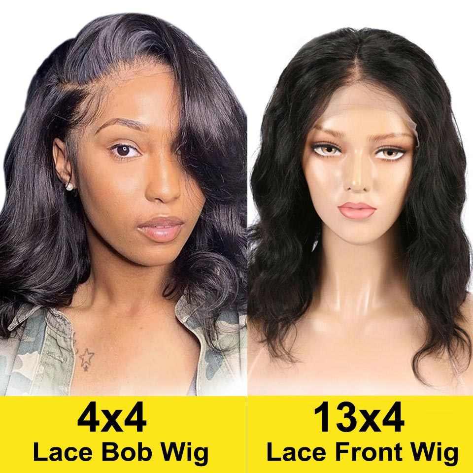 Body Wave Korte Bob Pruiken Braziliaanse Menselijk Haar Pruiken Pre Geplukt Haarlijn Natuurlijke 4X4 Vetersluiting Pruiken Voor zwarte Vrouwen Vrvogue