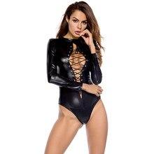 Erotic Sexy Latex Bondage Lingerie Spandex Female Bodysuit Plus Size Leather Dress Breast Exposing Dress Sexy Clothing Sissy